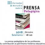 III JORNADAS DE ESTUDIO SOBRE PRENSA PEDAGÓGICA